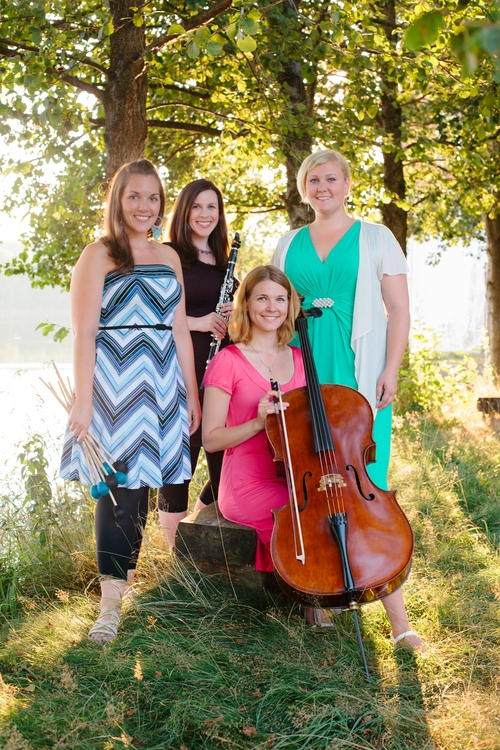 Quartet Kalos, Anna K.Larson Voice, Sanna Andersson Cello, Maria Finkelmeier Percussion, Angela Shankar clarinet Swedish-American group